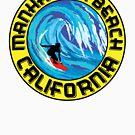 Surfer MANHATTAN BEACH California Surfing Surfboard Waves Ocean Beach Vacation by MyHandmadeSigns