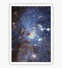 Pegatina Galaxia azul
