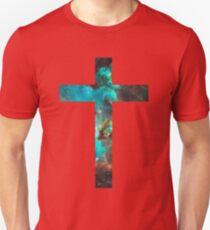 Green Galaxy Cross T-Shirt