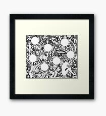 around the nothingness Framed Print