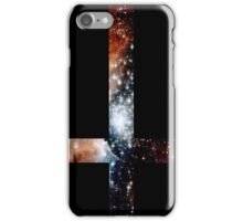 Red Galaxy Inverted Cross iPhone Case/Skin