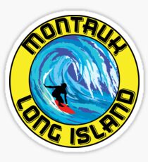 Surfing MONTAUK LONG ISLAND NEW YORK Surf Surfboard Waves Sticker