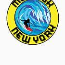 Surfing MONTAUK NEW YORK Surf Surfboard Waves LONG ISLAND by MyHandmadeSigns