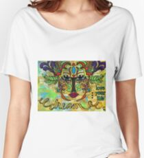 Life Dreams-Ceremonial Mask Women's Relaxed Fit T-Shirt