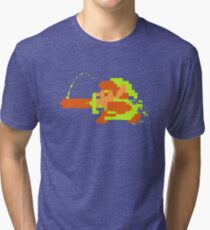 Link in action Tri-blend T-Shirt