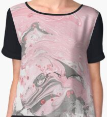 Pink and grey marble Chiffon Top