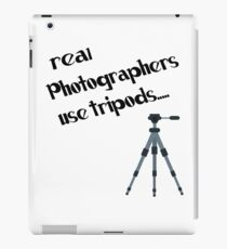 photographers use tripods iPad Case/Skin