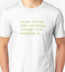 Dancing and encrypting Unisex T-Shirt