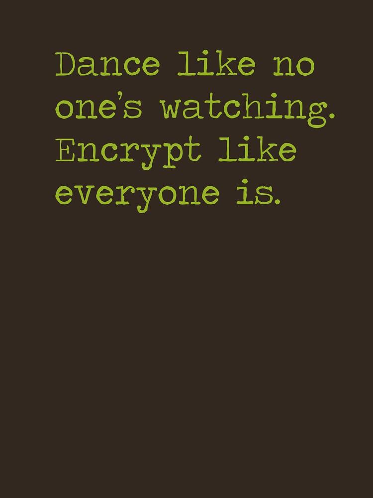 Dancing and encrypting by herbertshin