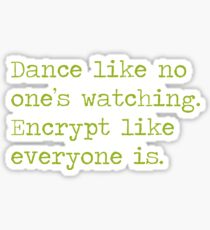 Dancing and encrypting Sticker