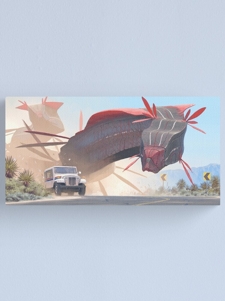 Alternate view of Car And Worms, near Amargosa Canvas Print