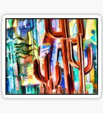 Cactus Sculptures Sticker