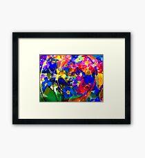 Spiral of Flowers Framed Print