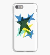 Stars blue yellow green  iPhone Case/Skin
