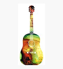 Acoustic Guitar - Colorful Abstract Musical Instrument by Sharon Cummings Photographic Print