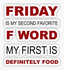 F-word priorities Sticker