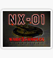 Starfleet Warp 5 Complex NX-01 Sticker