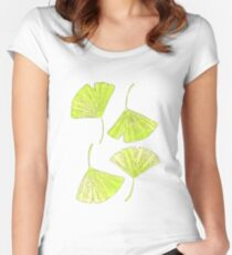 ginkgo leaf Women's Fitted Scoop T-Shirt