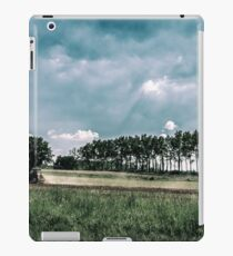 working in the field in the italian countryside iPad Case/Skin