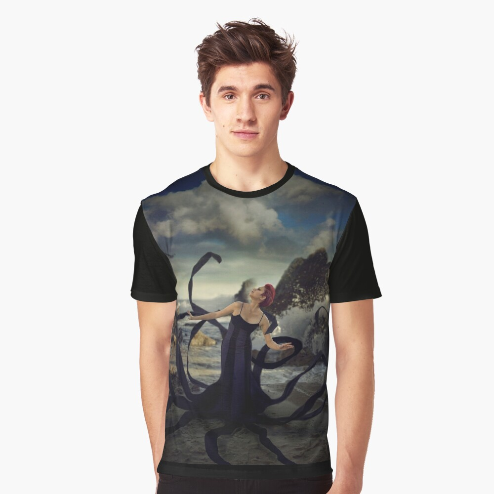 Exploring the World Above Graphic T-Shirt Front