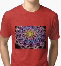 Colorful Crackle Weave Tri-blend T-Shirt