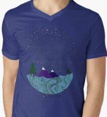 Camiseta para hombre de cuello en v Einstein: Naturaleza