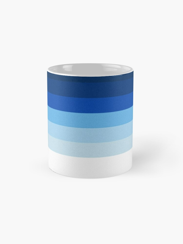 Alternate view of Blue Lines Mugs
