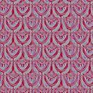 Catenary Fan 7 Red Dusk by Edward Huse