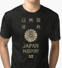 Japanese Passport Tri-blend T-Shirt