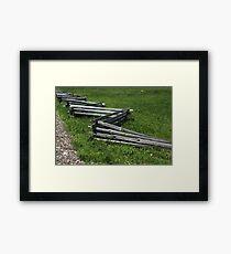 Fence River Raisin Battlefield Framed Print