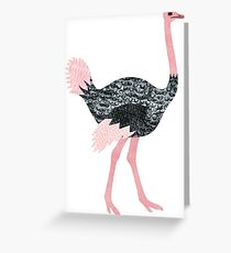 O is for Ostrich Greeting Card