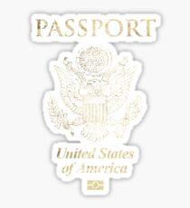 USA Vintage Passport Sticker