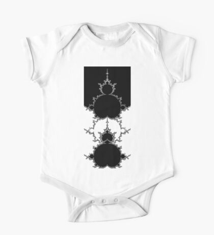 Monochrome Outline Mandelbrot Set Kids Clothes