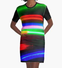 Moving Colors Graphic T-Shirt Dress