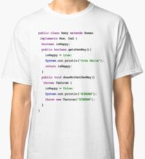 Java Code New Baby - implements Mum, Dad Classic T-Shirt
