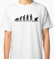 Funny Lawn Bowls Evolution Of Man Classic T-Shirt