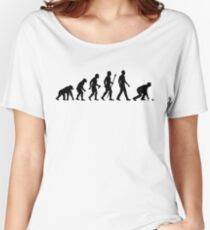 Funny Lawn Bowls Evolution Of Man Women's Relaxed Fit T-Shirt