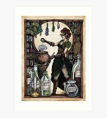 Ezlynn the Industrial Witch by Bobbie Berendson W Art Print