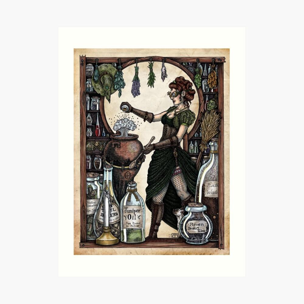 Ezlynn the Industrial Witch by Bobbie Berendson W Art Print
