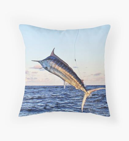 Marlin Canvas - Gold Time Throw Pillow
