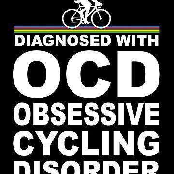 OCD Obsessive Radfahren Störung lustiges T-Shirt von BeyondEvolved