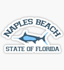 Naples Beach - Florida. Sticker