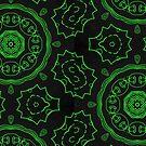 Green Night Mandala by Edward Huse