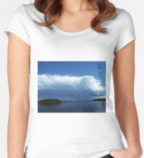 Severe storms moving into northwest Wisconsin Women's Fitted Scoop T-Shirt