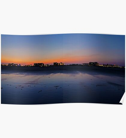Wildwood Strip Sunset Poster