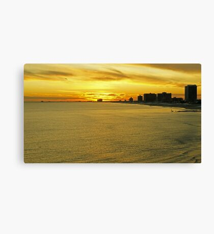 Atlantic City Sunset Canvas Print