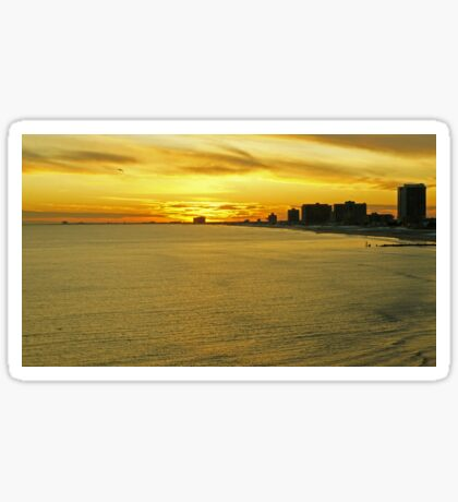 Atlantic City Sunset Sticker