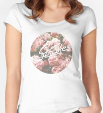 The Strokes - Floral Women's Fitted Scoop T-Shirt