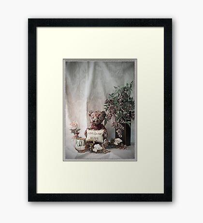 Teddy Bear Live, Laugh and Love Framed Print