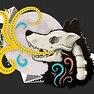 Wolf skull illustration by licographics